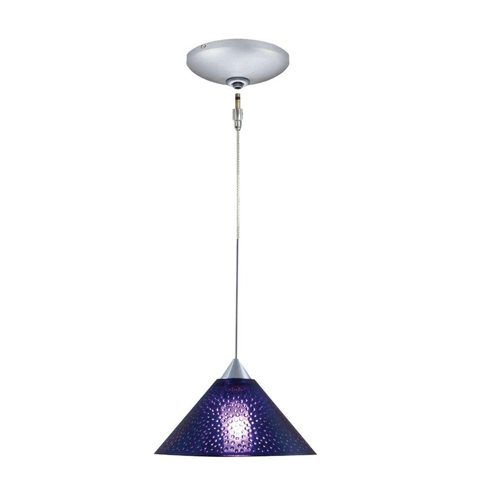 JESCO Lighting Low Voltage Quick Adapt 5.5 in. x 101.25 in. Blue Pendant and Canopy Kit