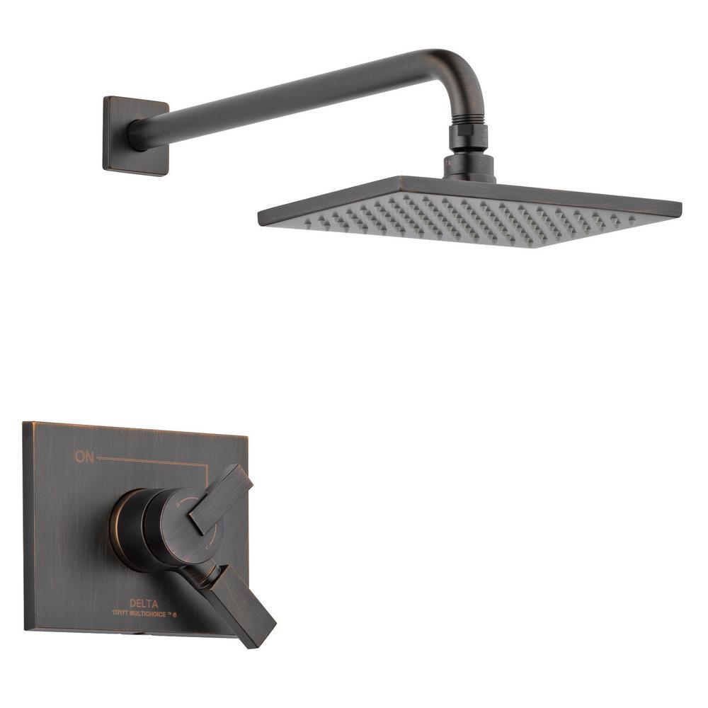 Vero 1-Handle Shower Faucet Trim Kit in Venetian Bronze (Valve Not Included)