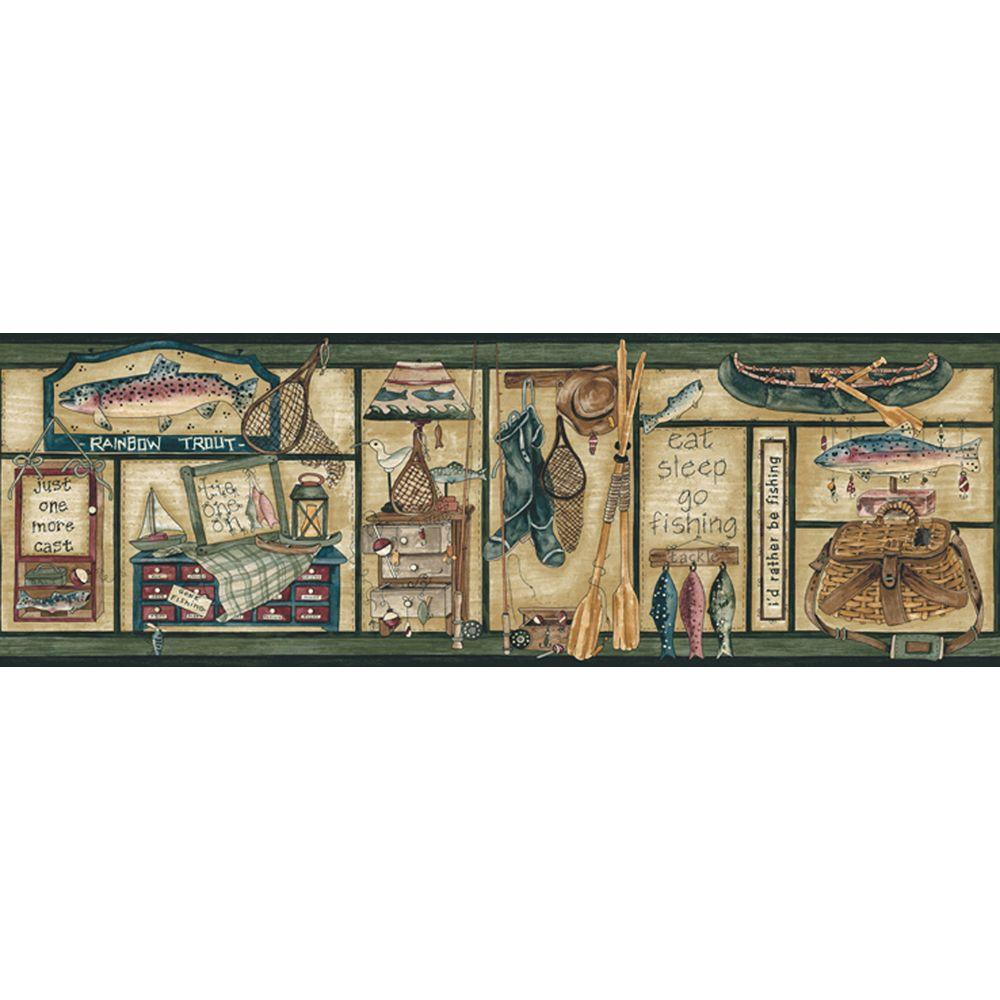 The Wallpaper Company 8 in. x 10 in. Jewel Tone Angler Border Sample-DISCONTINUED