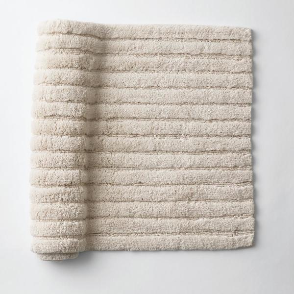 Green Earth Quick Dry Linen 30 in. x 50 in. Solid Cotton Bath Rug