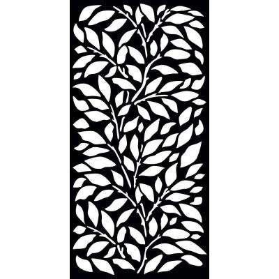 0.3 in. x 71 in. x 2.95 ft. Jungle Recycled Plastic Charcoal Decorative Screen (3-Piece per Bundle)