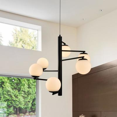Capri 150-Watt Black Integrated LED Chandelier