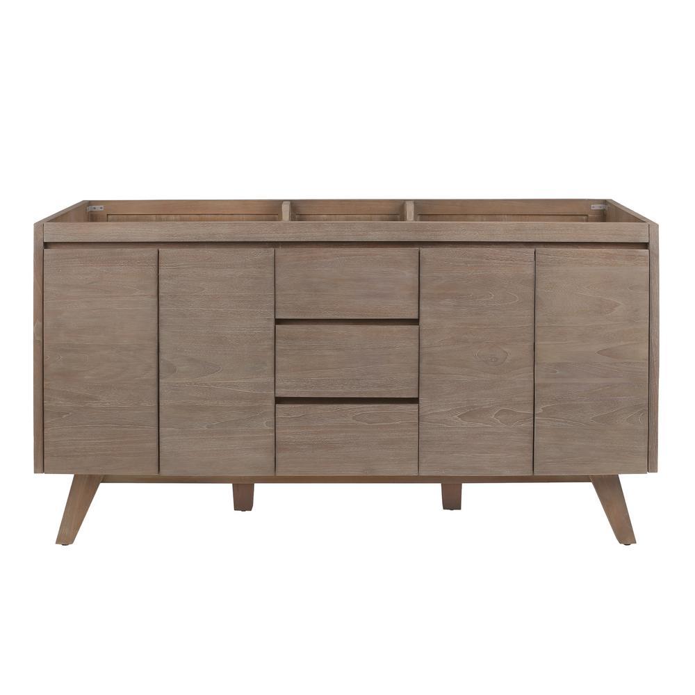 Coventry 60 in. Vanity Cabinet Only in Gray Teak