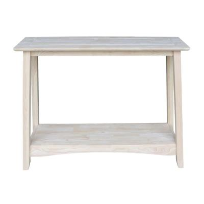 Bombay 38 in. Unfinished Standard Rectangle Wood Console Table