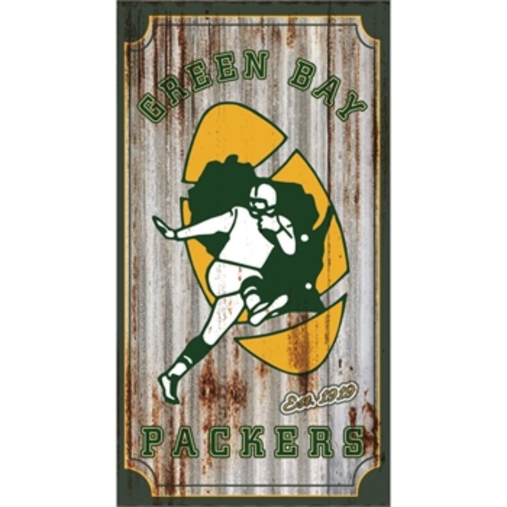 Green Bay Packers NFL Corrugated Metal Indoor/Outdoor Wall Art