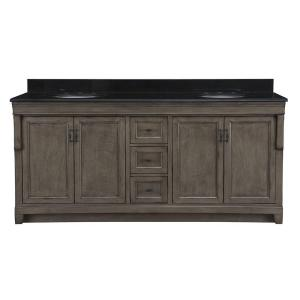 Home Decorators Collection Naples 72 inch W x 22 inch D Double Bath Vanity in Distressed... by Home Decorators Collection