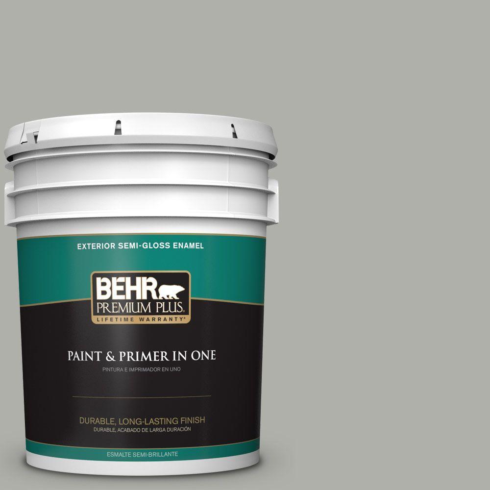 BEHR Premium Plus 5-gal. #BNC-06 Urban Putty Semi-Gloss Enamel Exterior Paint