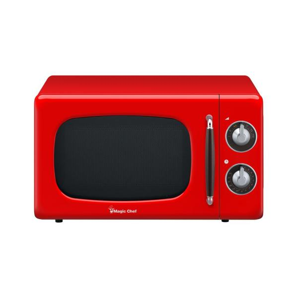 0.7 Cu Ft 700 Watt Countertop Microwave in Red