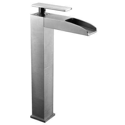 AB1597-BN Single Hole Single-Handle Bathroom Faucet in Brushed Nickel