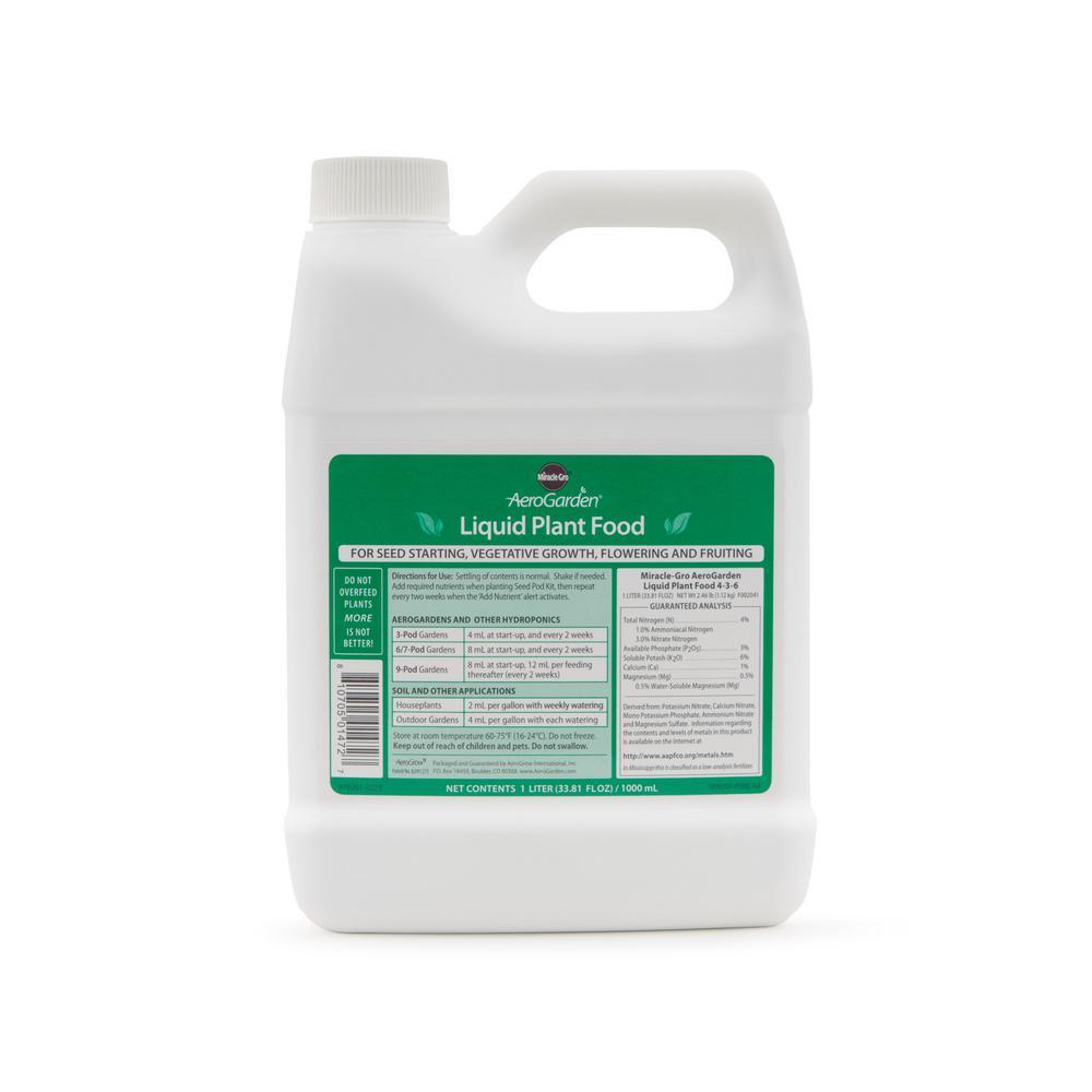 miracle gro aerogarden 1 liter liquid nutrients - Areo Garden