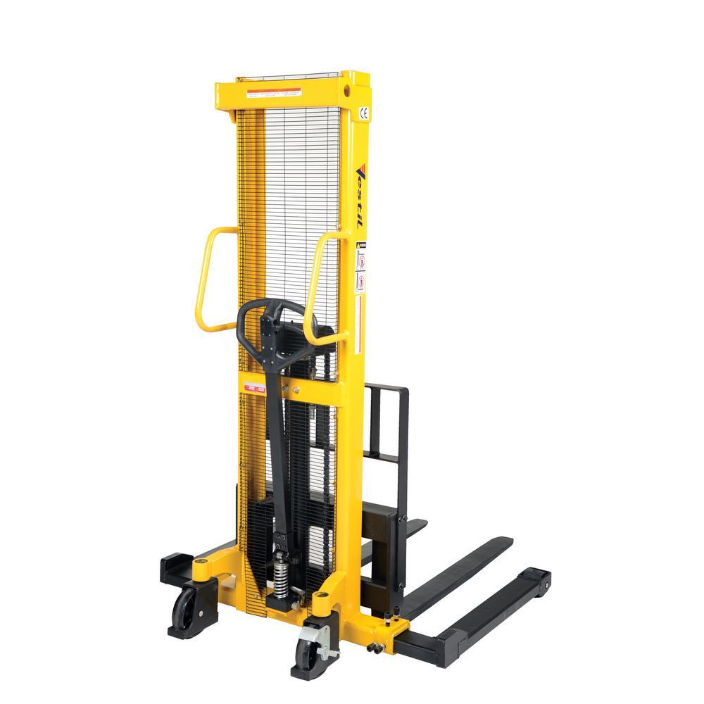 Vestil 2,000 lb. Capacity Manual Hydraulic Hand Pump Stacker