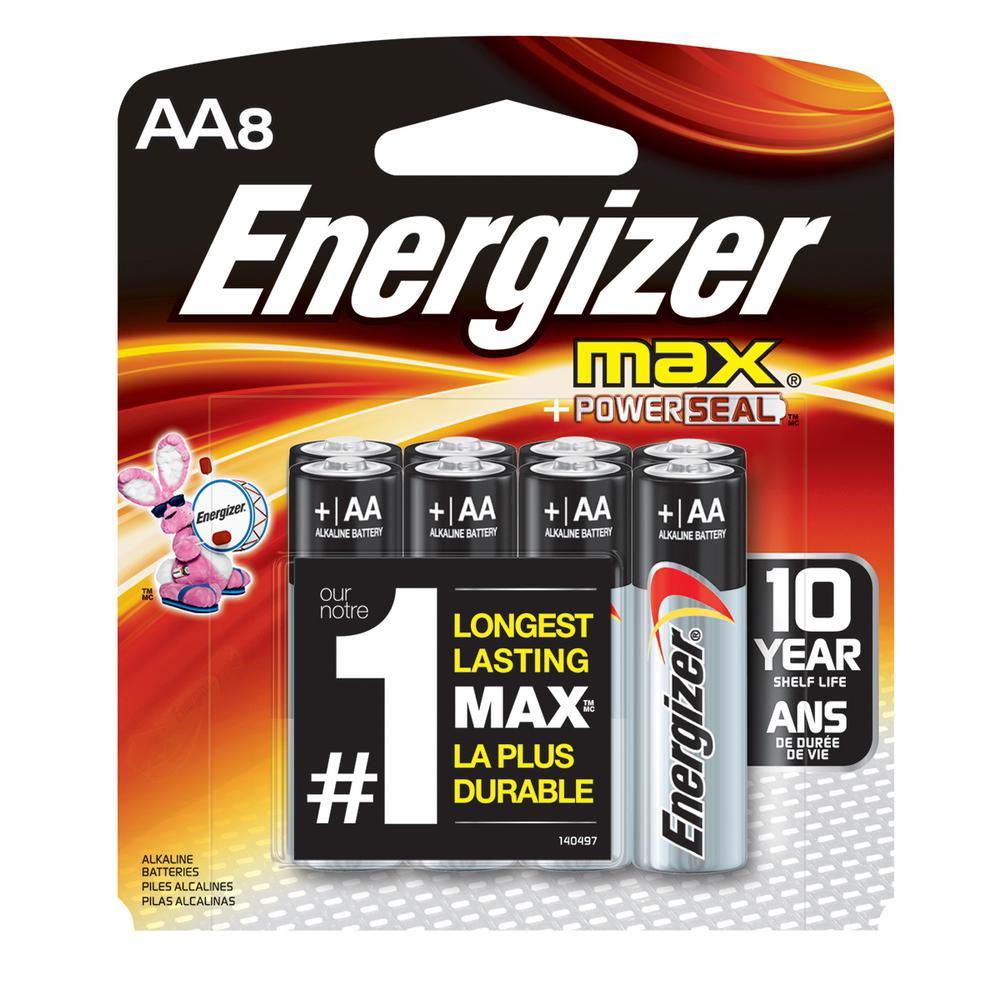 Energizer Alkaline AA Battery 8 Pack