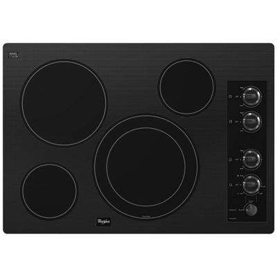 Gold 30 in. Radiant Electric Cooktop in Black with 4 Elements including AccuSimmer Element