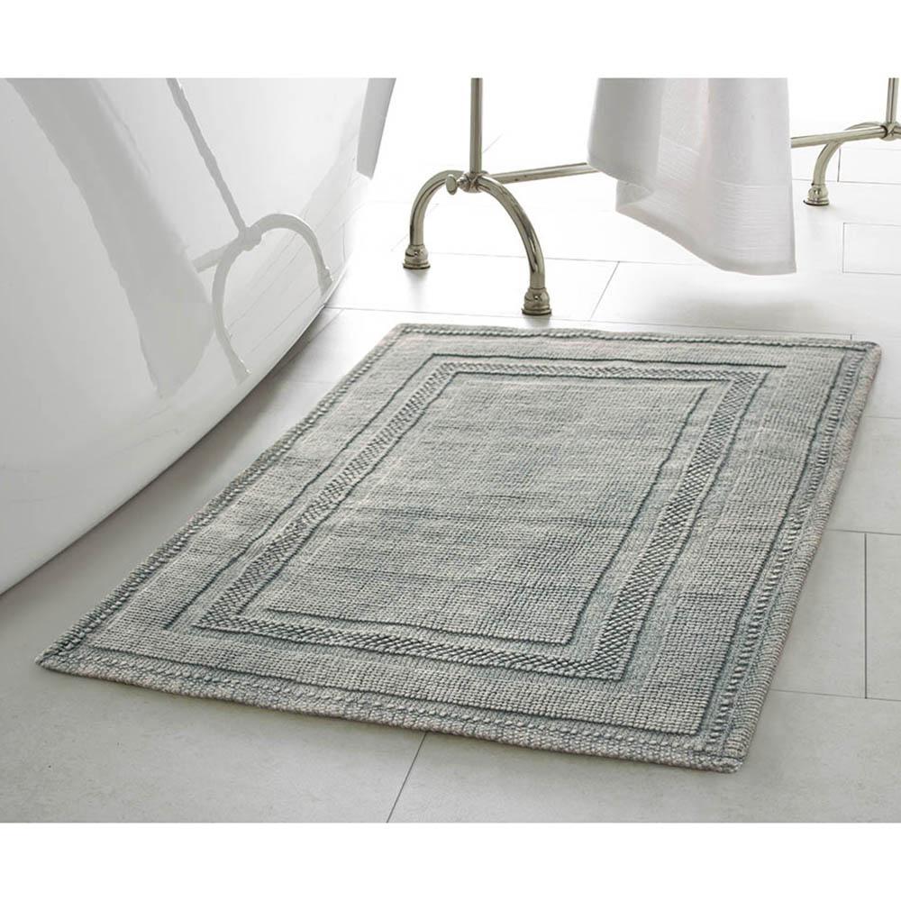 Gray bath rug