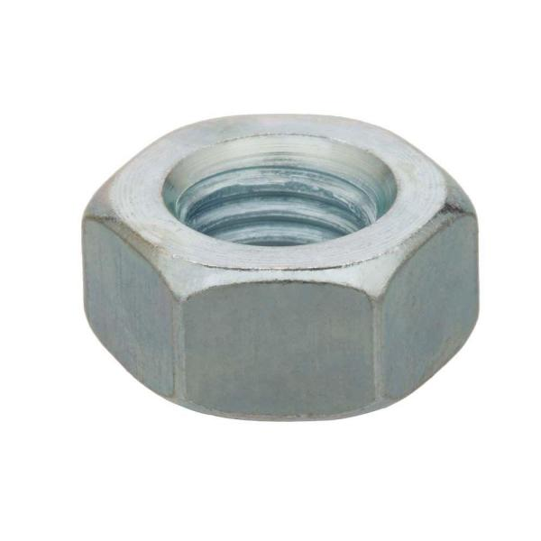 7/16 in.-14 Zinc Plated Hex Nut (4-Pack)