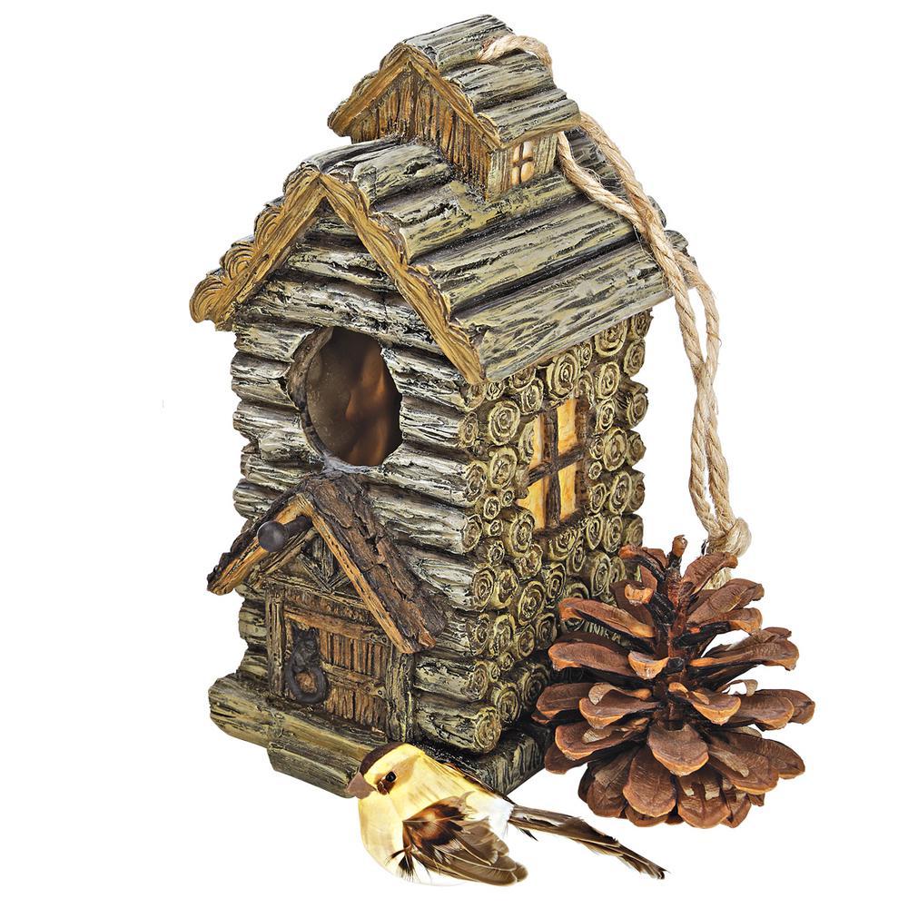 Backwoods Polyresin Cabin Multi-Species Bird House