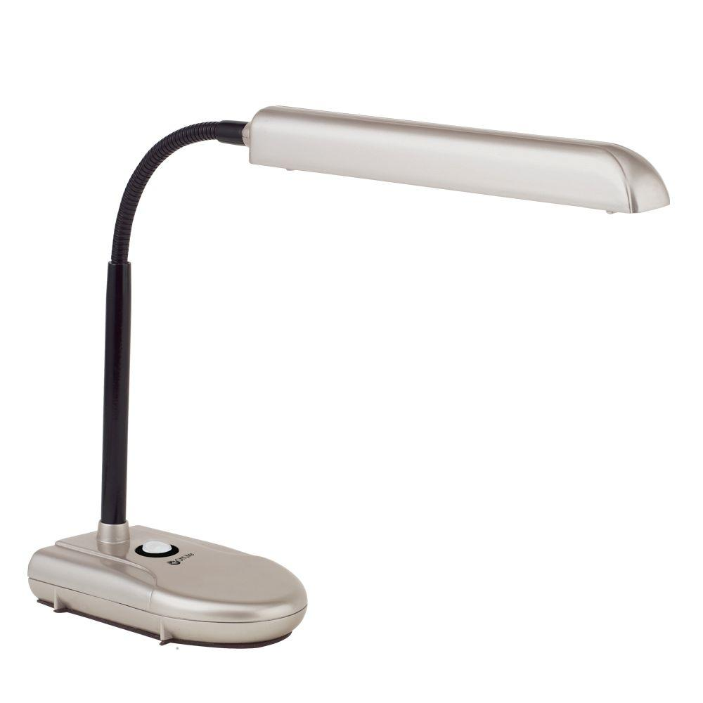 OttLite 11 in. Gooseneck Satin Champagne Desk Lamp