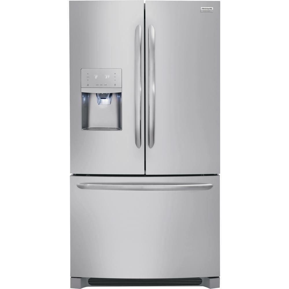 FRIGIDAIRE GALLERY 21.7 cu. ft. French Door Refrigerator in Stainless Steel, Counter Depth