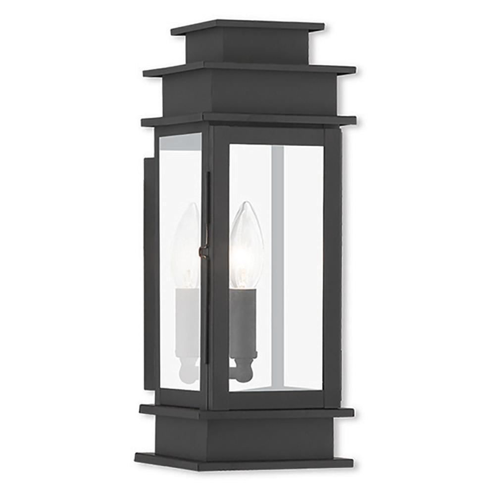 Livex Lighting Princeton 1-Light Black Outdoor Wall Mount Lantern