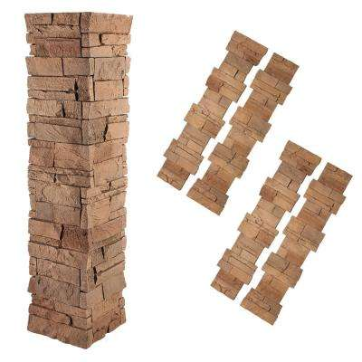 Stacked Stone 1-1/2 in. x 11-1/4 in. Desert Sunrise Faux Pillar Panel (4-Pack)