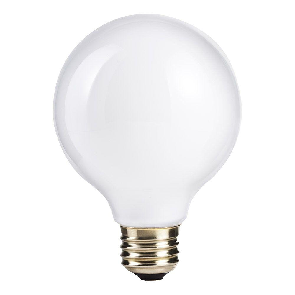 Light Bulb Home Depot: Philips 60W Equivalent Halogen G25 White Globe Light Bulb