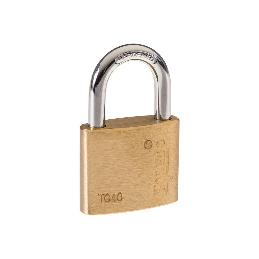 Toledo Fine Locks 40 mm Brass Keyed Padlock