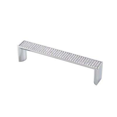 Swarovski Crystal Collection 5.37 in. Center-to-Center Chrome/Crystal Cabinet Pull