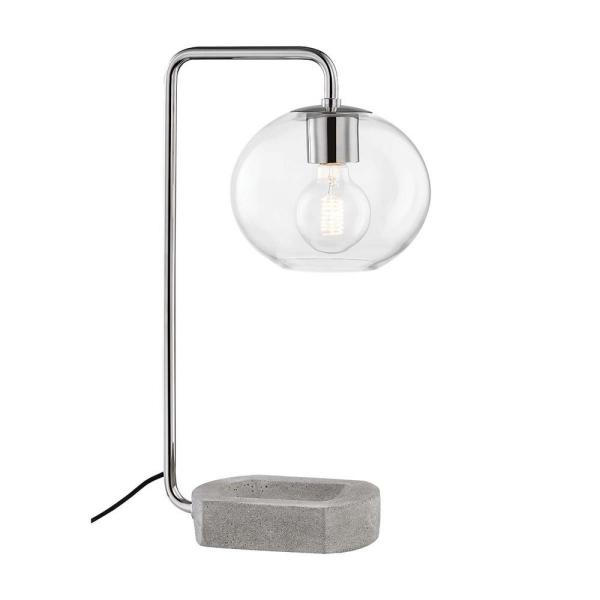 Margot 20.5 in. Polished Nickel Table Lamp