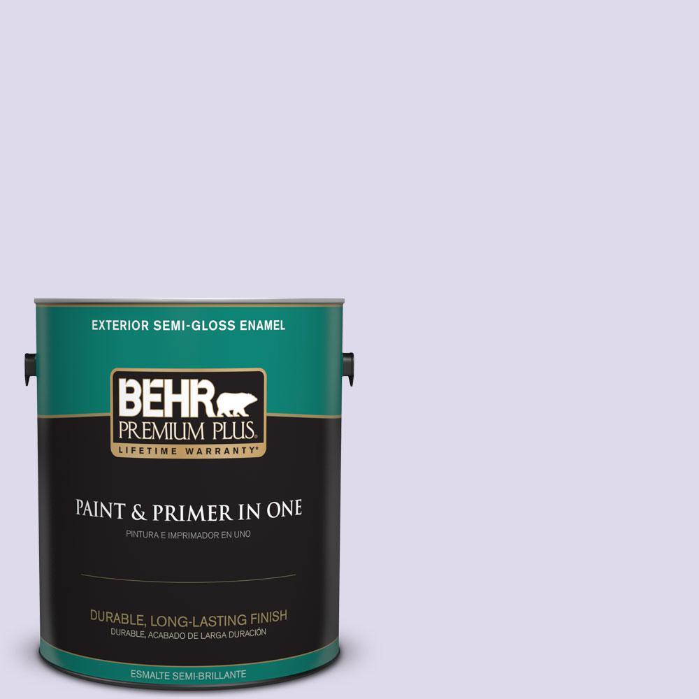 1-gal. #640A-2 Misty Violet Semi-Gloss Enamel Exterior Paint