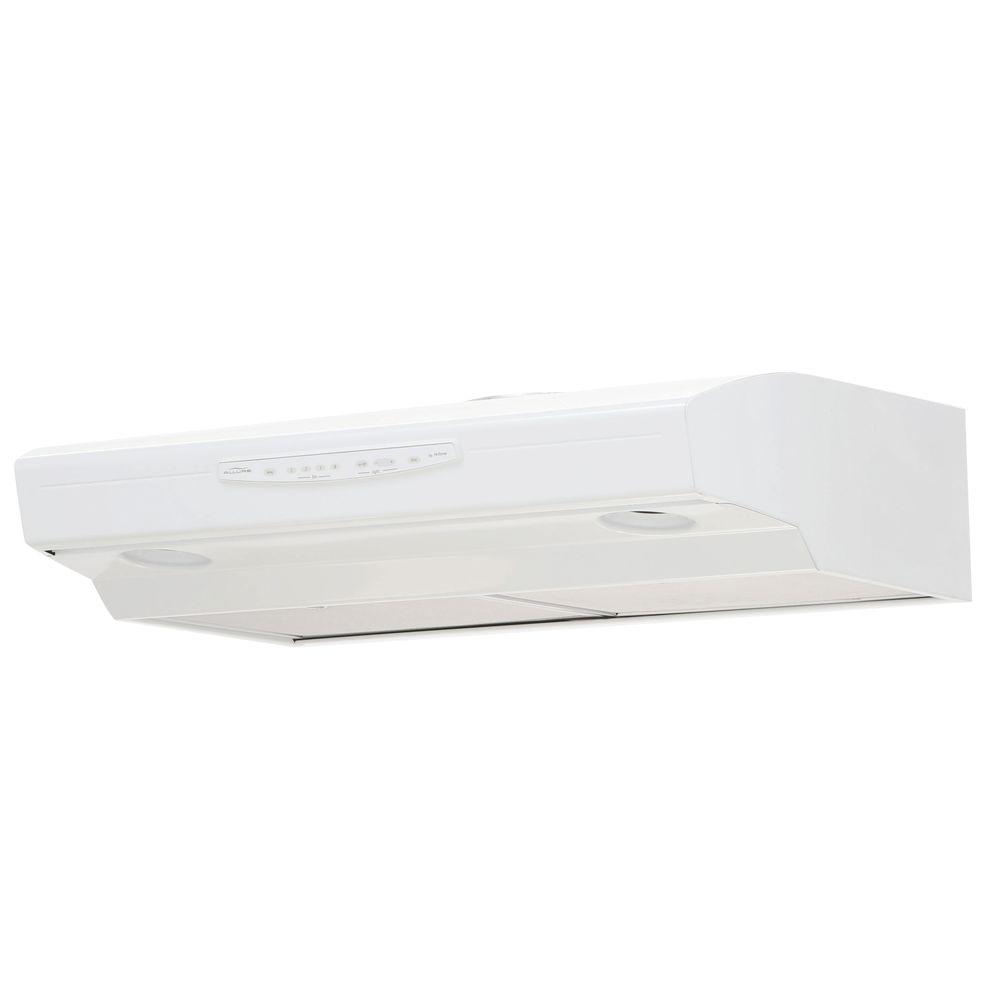Allure III Series 30 in. Convertible Range Hood in White