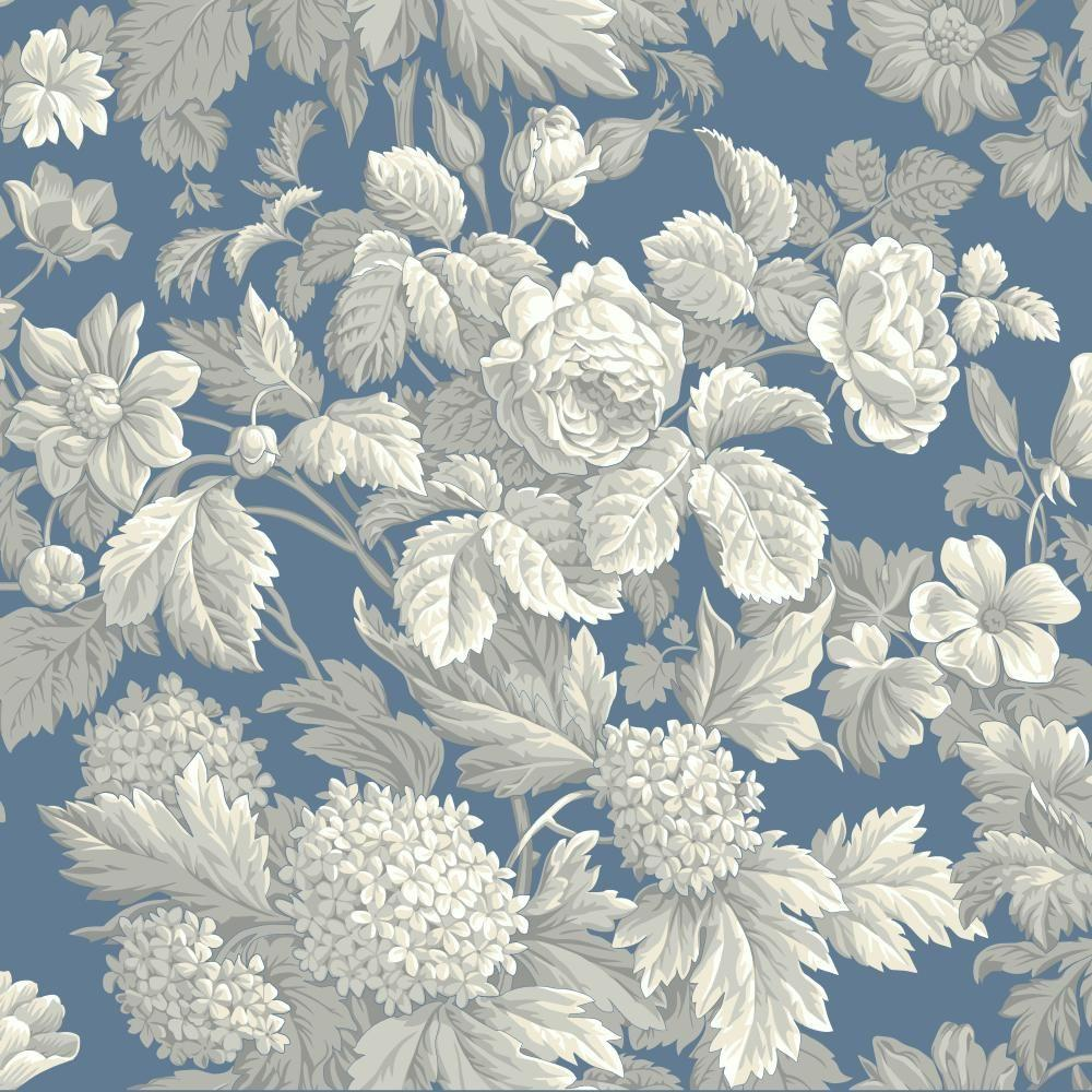 Antique Floral: York Wallcoverings Antique Floral Wallpaper-KC1845