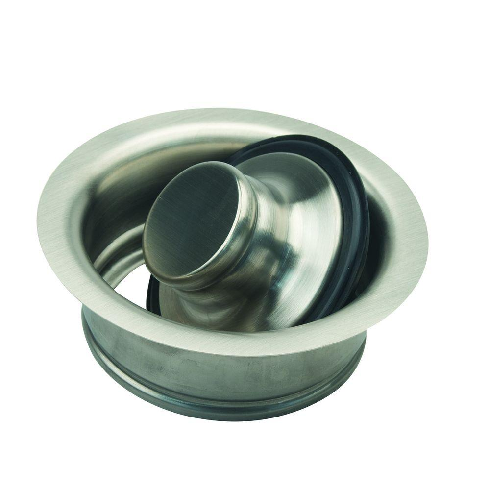 3-1/2 in. Garbage Disposal Flange and Stopper Kit in Satin Nickel
