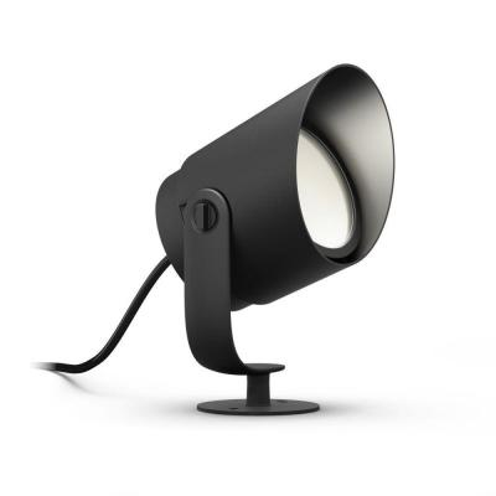 White and Color Ambiance Line Voltage Outdoor Spot Light LED Lily XL Black Landscape Smart Light Extension