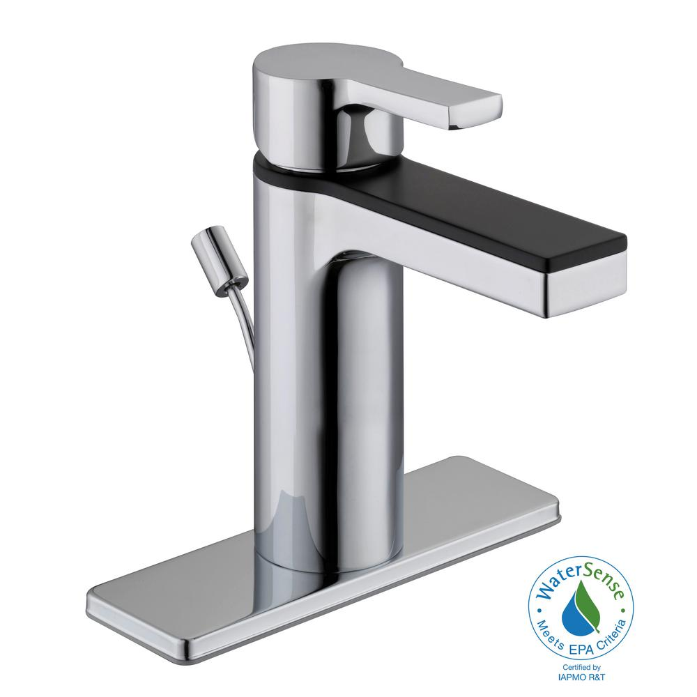 Glacier Bay Modern Contemporary Single Hole Handle Low Arc Bathroom Faucet In Dual