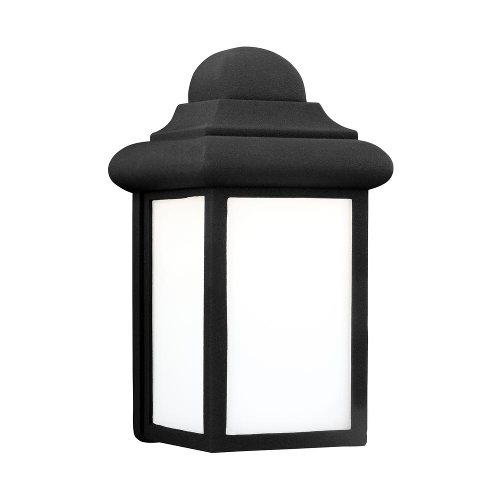 Mullberry Hill 1-Light Black Outdoor Wall Mount Lantern with LED Bulb