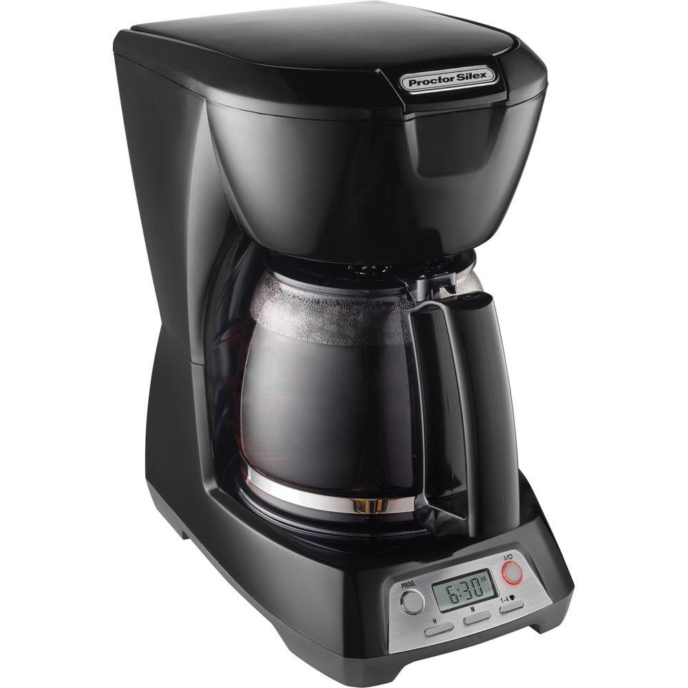Proctor Silex 12-Cup Programmable Coffeemaker in Black-DISCONTINUED