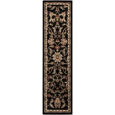Sabin Black 3 ft. x 7 ft. Indoor Runner Rug