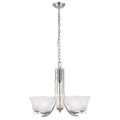 Torino 5-Light Satin Nickel Chandelier