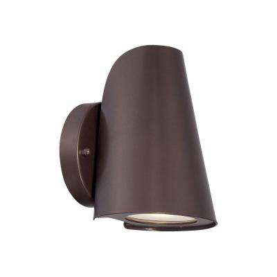 1-Light Architectural Bronze Integrated LED Wall Mount Sconce