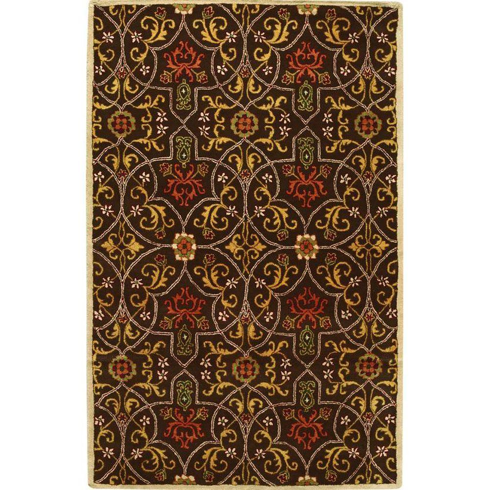 Home Decorators Collection Grimsby Black/Coffee 5 ft. 3 in. x 8 ft. 3 in. Area Rug