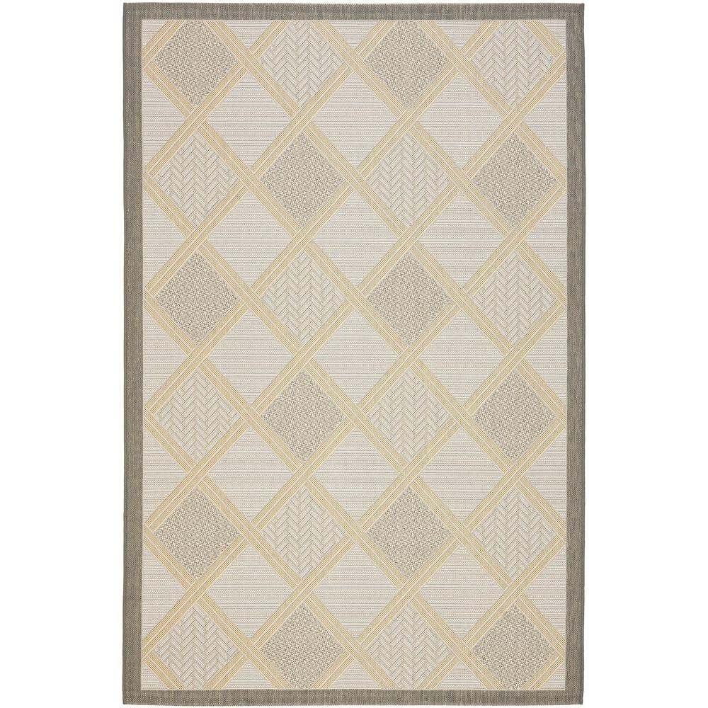 Safavieh Courtyard Beige/Anthracite 5 ft. 3 in. x 7 ft. 7 in. Indoor/Outdoor Area Rug