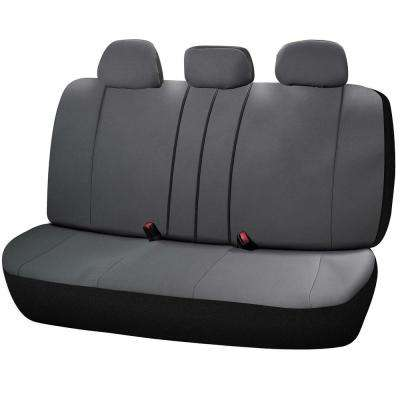 Journeyman Class Poly Flat Cloth 26 in. L x 55.9 in. W x 31.5 in. H Bench Seat Cover Set in Gray
