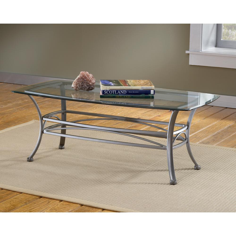 Hillsdale Furniture Abbington Dark Pewter Coffee TableOTC The - Pewter glass coffee table