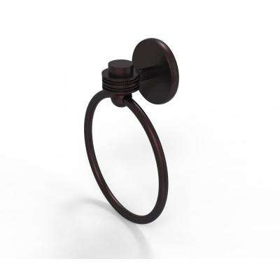Satellite Orbit One Collection Towel Ring with Dotted Accent in Antique Bronze