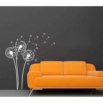 White Dandelions Removable Wall Decal