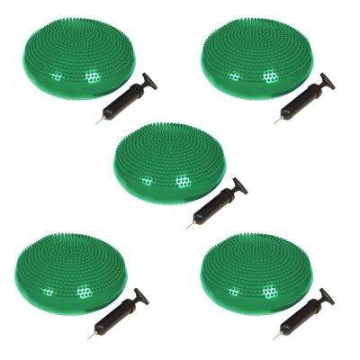 13 in. Dia PVC Fitness and Balance Disc in Green (Set of 5)
