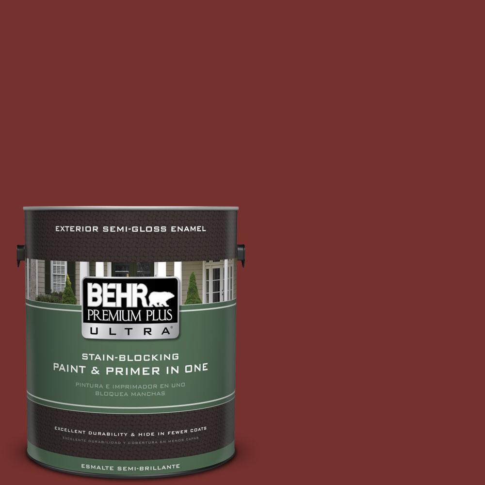 1-gal. #ECC-15-3 Cherry Bark Semi-Gloss Enamel Exterior Paint