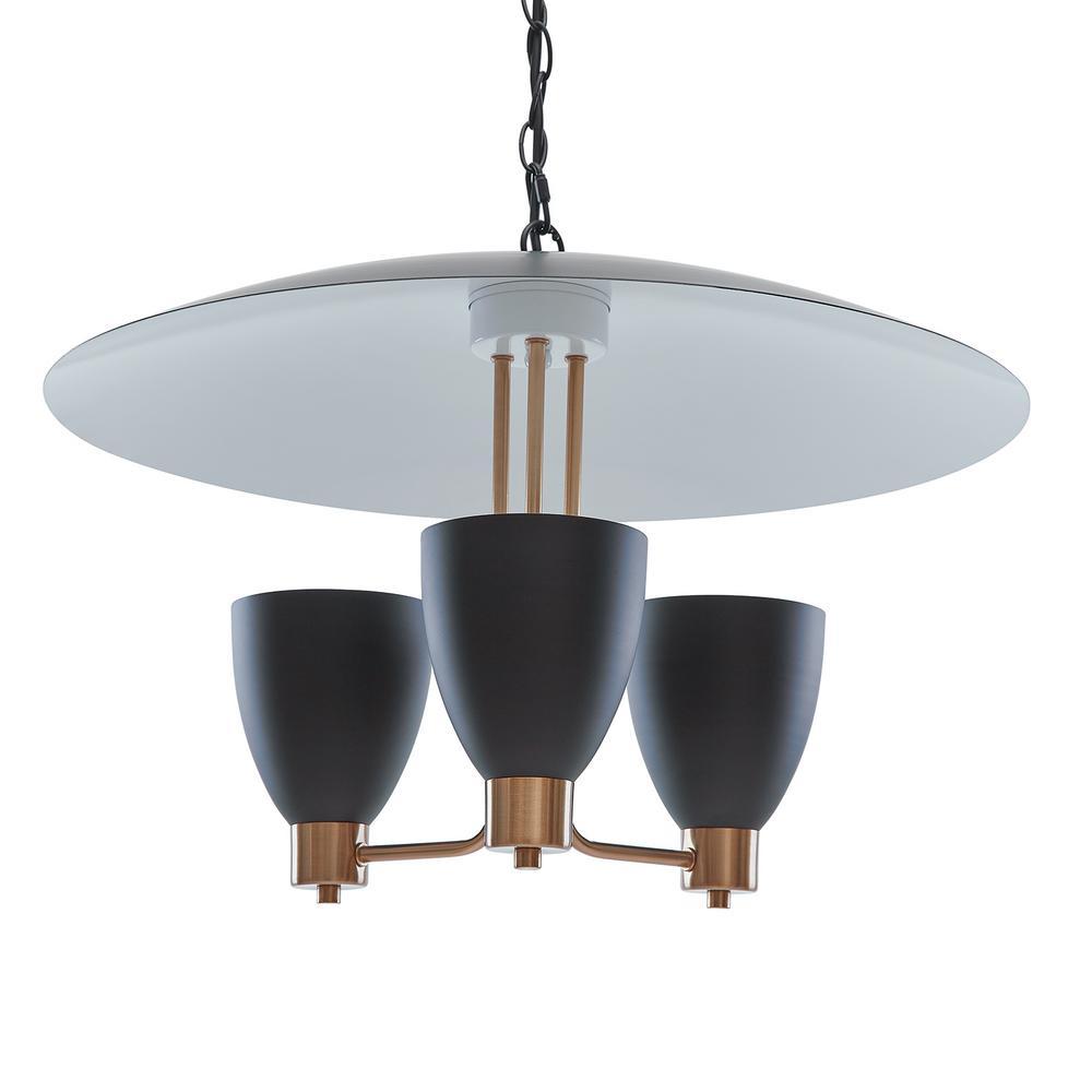 Southern Enterprises Potra 3-Light Black Contemporary Pendant Lamp was $189.99 now $60.03 (68.0% off)