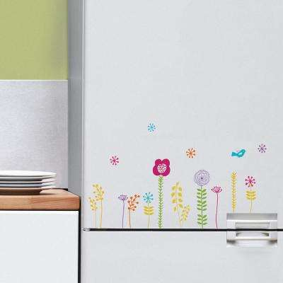 Multi-Color Poucette Flowers Wall Decals