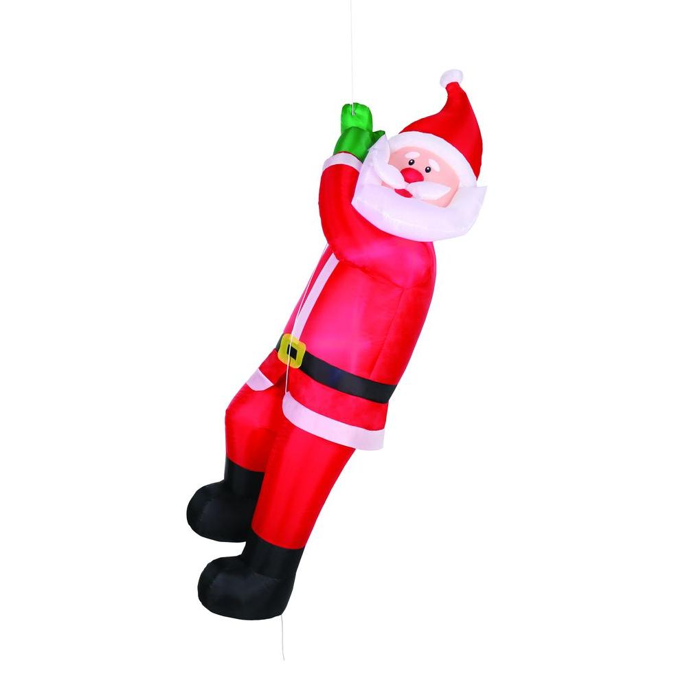 Airflowz 6 ft. Animated Inflatable Climbing Santa